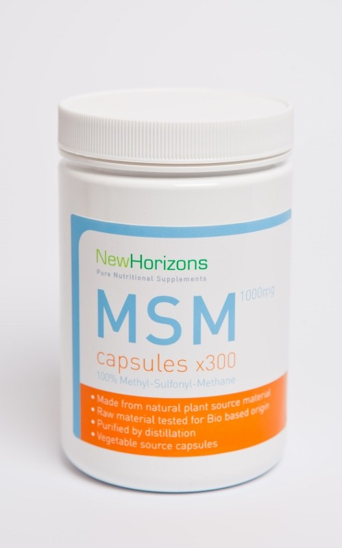 MSM Crystal Flakes Capsules (300 x 1000mg) x 3