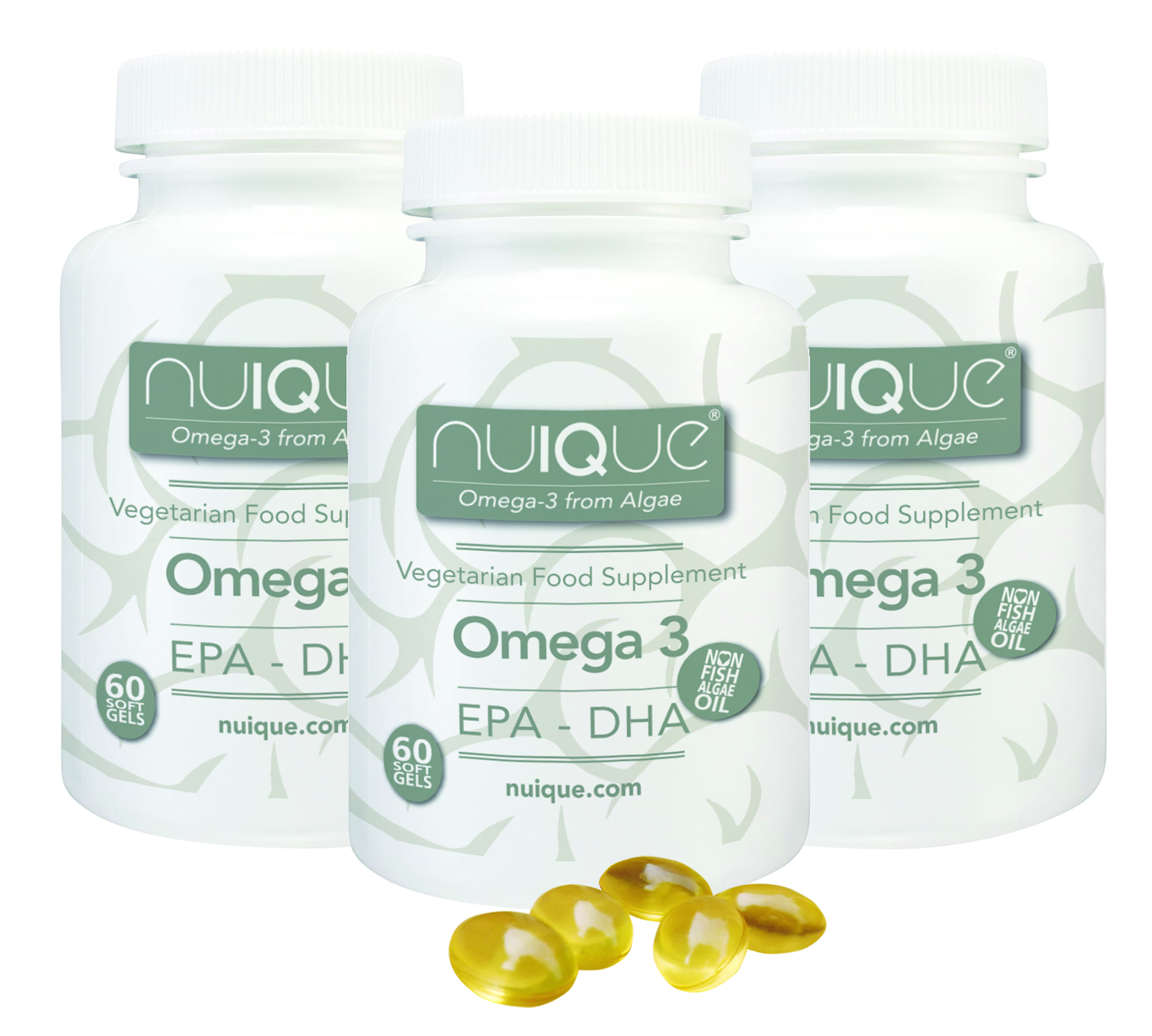 Nuique - Omega 3 (60 caps) x 3